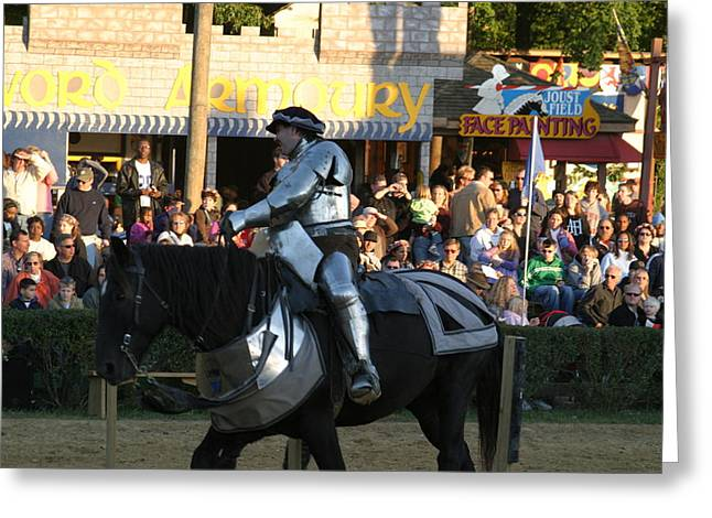 English Greeting Cards - Maryland Renaissance Festival - Jousting and Sword Fighting - 121230 Greeting Card by DC Photographer