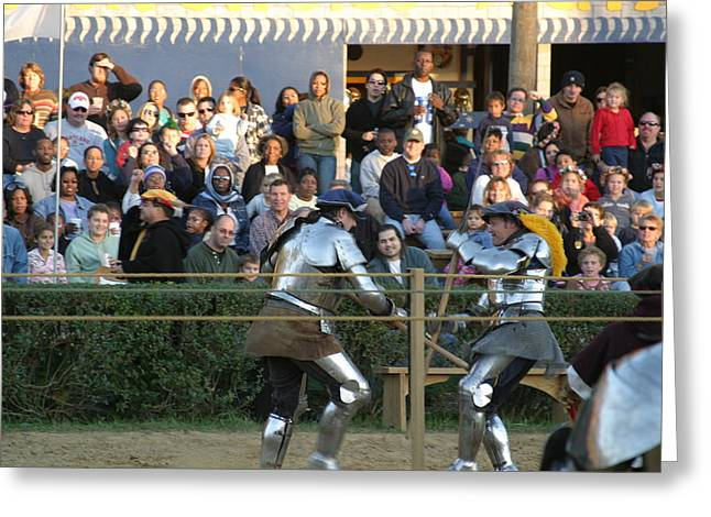 Maryland Renaissance Festival - Jousting And Sword Fighting - 121235 Greeting Card by DC Photographer