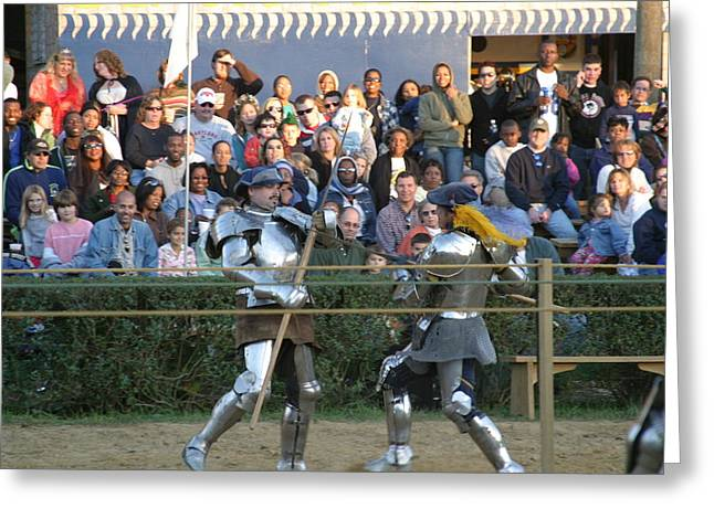 Costume Photographs Greeting Cards - Maryland Renaissance Festival - Jousting and Sword Fighting - 121237 Greeting Card by DC Photographer