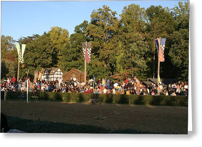 Knights Greeting Cards - Maryland Renaissance Festival - Jousting and Sword Fighting - 12124 Greeting Card by DC Photographer