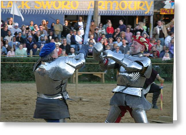 Middle Photographs Greeting Cards - Maryland Renaissance Festival - Jousting and Sword Fighting - 121243 Greeting Card by DC Photographer