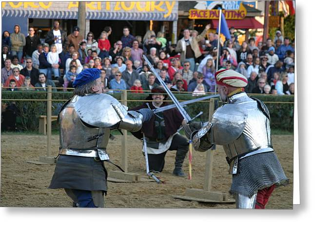 Armor Greeting Cards - Maryland Renaissance Festival - Jousting and Sword Fighting - 121244 Greeting Card by DC Photographer
