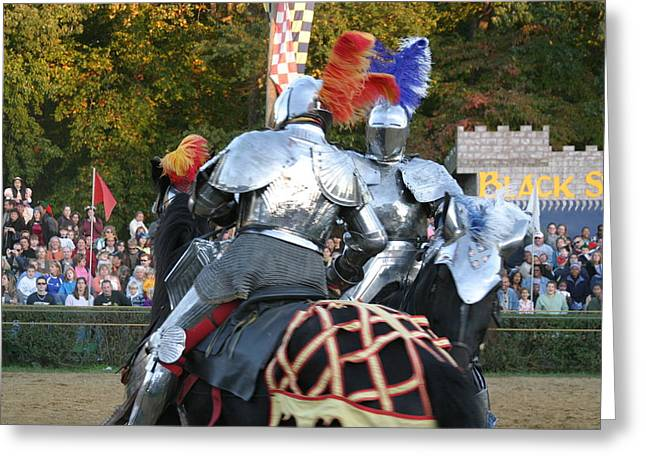 ist Photographs Greeting Cards - Maryland Renaissance Festival - Jousting and Sword Fighting - 121246 Greeting Card by DC Photographer
