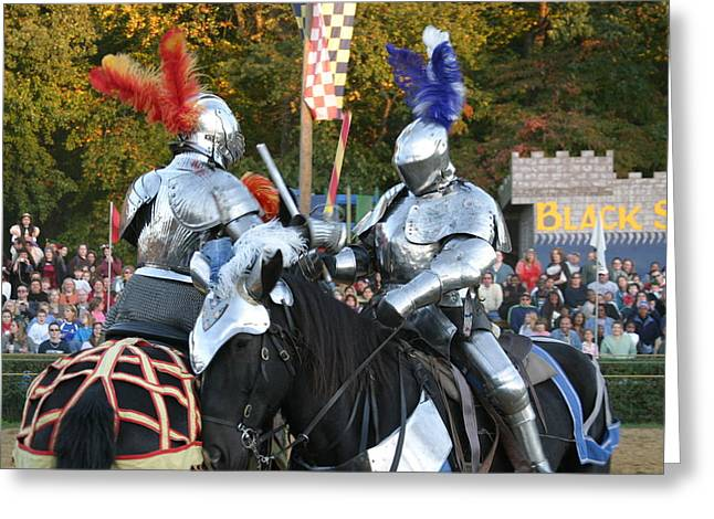 Maryland Renaissance Festival - Jousting And Sword Fighting - 121247 Greeting Card by DC Photographer