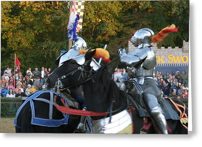 Armor Greeting Cards - Maryland Renaissance Festival - Jousting and Sword Fighting - 121249 Greeting Card by DC Photographer