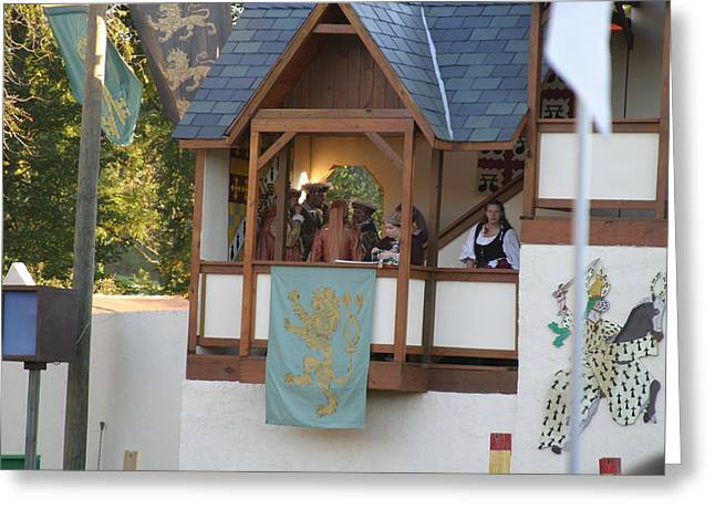 Maryland Renaissance Festival - Jousting And Sword Fighting - 12125 Greeting Card by DC Photographer