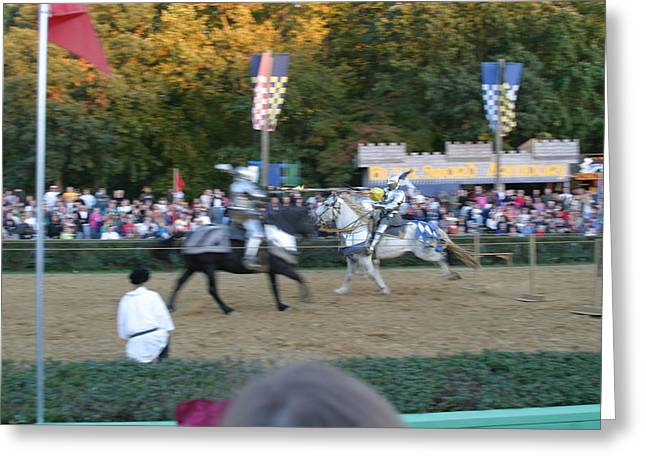 Horses Greeting Cards - Maryland Renaissance Festival - Jousting and Sword Fighting - 121250 Greeting Card by DC Photographer