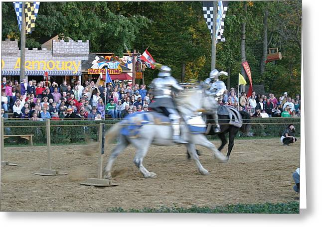Knights Greeting Cards - Maryland Renaissance Festival - Jousting and Sword Fighting - 121251 Greeting Card by DC Photographer