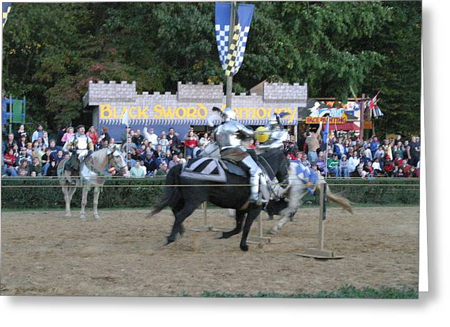 Artist Photographs Greeting Cards - Maryland Renaissance Festival - Jousting and Sword Fighting - 121255 Greeting Card by DC Photographer