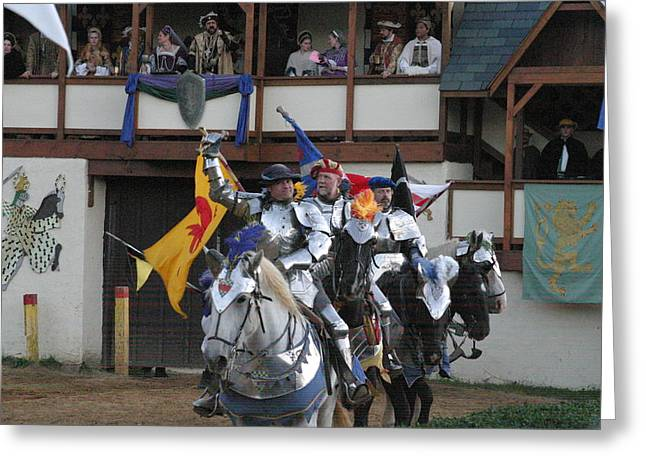 Knights Greeting Cards - Maryland Renaissance Festival - Jousting and Sword Fighting - 121257 Greeting Card by DC Photographer
