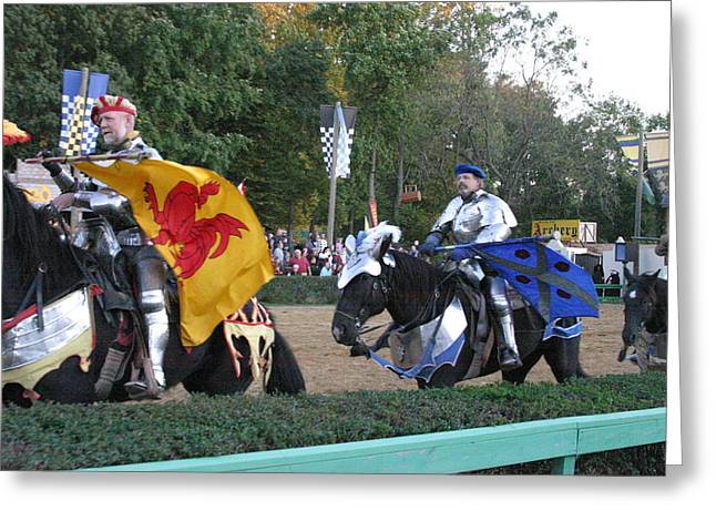 Knights Greeting Cards - Maryland Renaissance Festival - Jousting and Sword Fighting - 121260 Greeting Card by DC Photographer