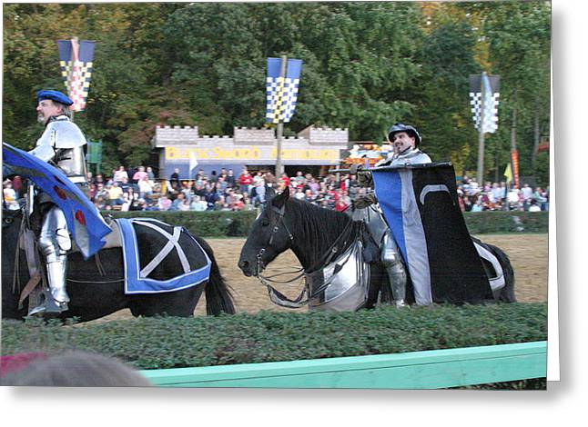 Knights Greeting Cards - Maryland Renaissance Festival - Jousting and Sword Fighting - 121261 Greeting Card by DC Photographer