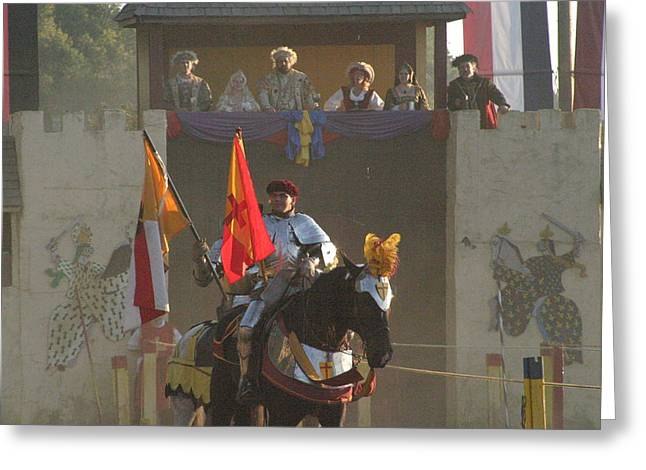 Maryland Renaissance Festival - Jousting And Sword Fighting - 121262 Greeting Card by DC Photographer