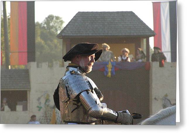Rennfest Greeting Cards - Maryland Renaissance Festival - Jousting and Sword Fighting - 121263 Greeting Card by DC Photographer