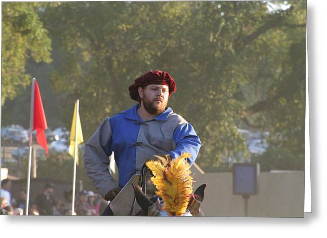 Rennfest Greeting Cards - Maryland Renaissance Festival - Jousting and Sword Fighting - 121264 Greeting Card by DC Photographer