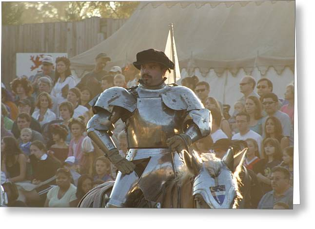 Dress Greeting Cards - Maryland Renaissance Festival - Jousting and Sword Fighting - 121266 Greeting Card by DC Photographer