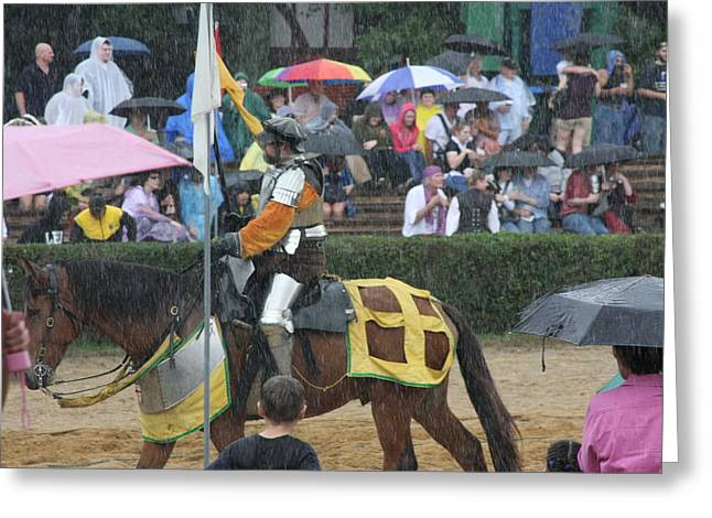 Rennfest Greeting Cards - Maryland Renaissance Festival - Jousting and Sword Fighting - 121268 Greeting Card by DC Photographer