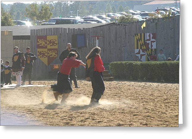Rennfest Greeting Cards - Maryland Renaissance Festival - Jousting and Sword Fighting - 121278 Greeting Card by DC Photographer
