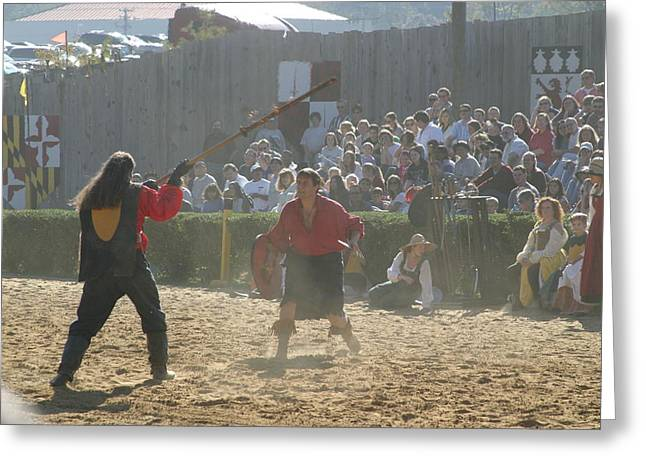 Rennfest Greeting Cards - Maryland Renaissance Festival - Jousting and Sword Fighting - 121288 Greeting Card by DC Photographer