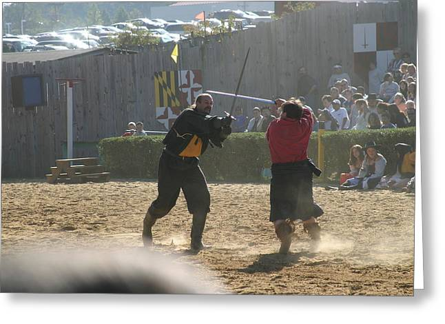 Festival Greeting Cards - Maryland Renaissance Festival - Jousting and Sword Fighting - 121294 Greeting Card by DC Photographer