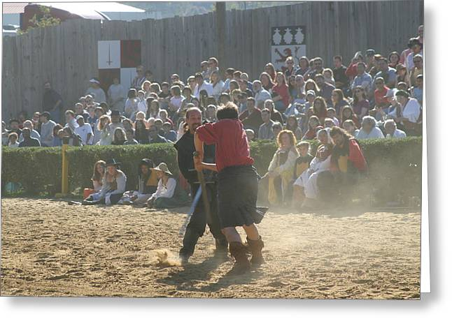 Rennfest Greeting Cards - Maryland Renaissance Festival - Jousting and Sword Fighting - 121296 Greeting Card by DC Photographer