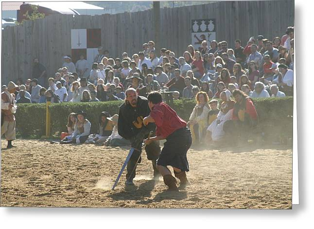 Knight Greeting Cards - Maryland Renaissance Festival - Jousting and Sword Fighting - 121297 Greeting Card by DC Photographer
