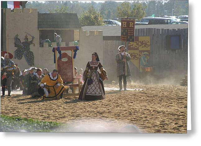 Dress Greeting Cards - Maryland Renaissance Festival - Jousting and Sword Fighting - 121299 Greeting Card by DC Photographer
