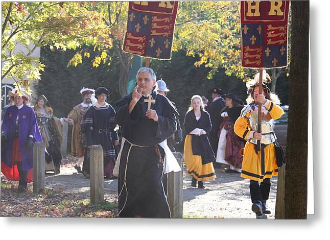 Start Greeting Cards - Maryland Renaissance Festival - Kings Entrance - 12121 Greeting Card by DC Photographer