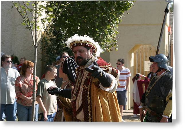 Maryland Renaissance Festival - Kings Entrance - 121211 Greeting Card by DC Photographer