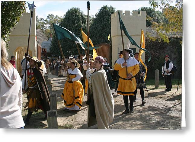 Rennfest Greeting Cards - Maryland Renaissance Festival - Kings Entrance - 121212 Greeting Card by DC Photographer