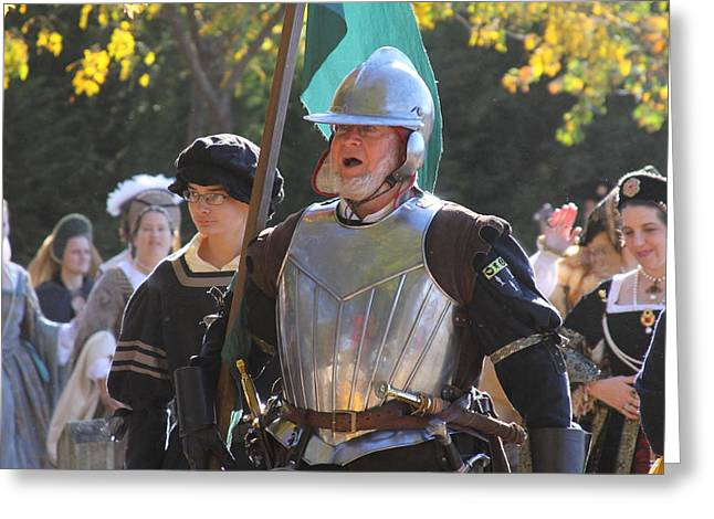 Start Greeting Cards - Maryland Renaissance Festival - Kings Entrance - 12123 Greeting Card by DC Photographer
