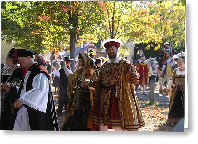 Dress Photographs Greeting Cards - Maryland Renaissance Festival - Kings Entrance - 12124 Greeting Card by DC Photographer