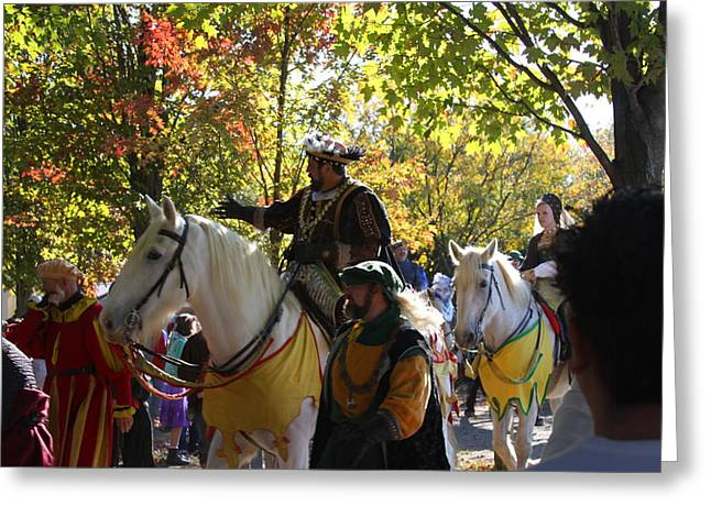 King Greeting Cards - Maryland Renaissance Festival - Kings Entrance - 12126 Greeting Card by DC Photographer
