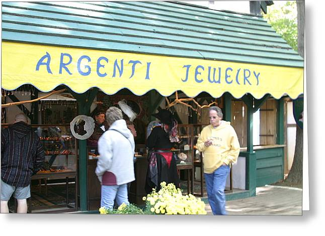 Shoppe Greeting Cards - Maryland Renaissance Festival - Merchants - 121211 Greeting Card by DC Photographer