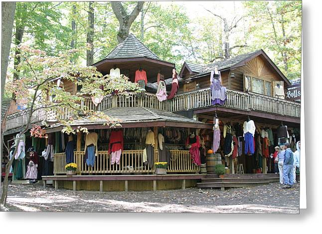 Store Greeting Cards - Maryland Renaissance Festival - Merchants - 121224 Greeting Card by DC Photographer