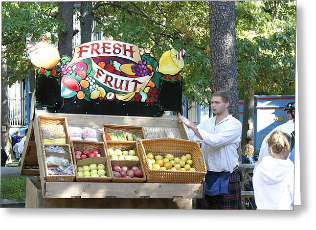 Rennfest Greeting Cards - Maryland Renaissance Festival - Merchants - 12123 Greeting Card by DC Photographer
