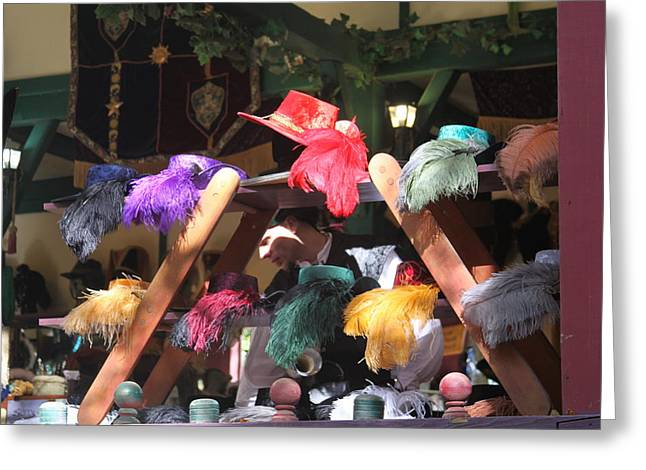 Rennfest Greeting Cards - Maryland Renaissance Festival - Merchants - 121244 Greeting Card by DC Photographer