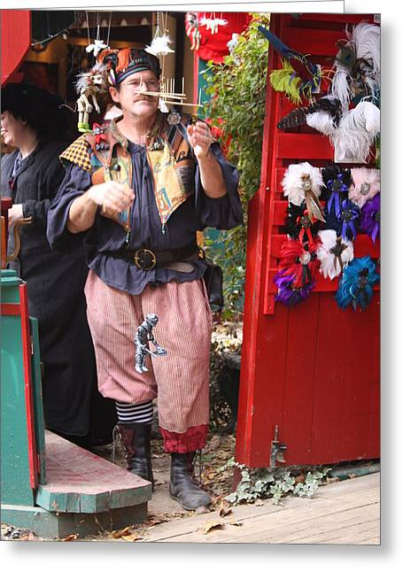 Rennfest Greeting Cards - Maryland Renaissance Festival - Merchants - 121250 Greeting Card by DC Photographer