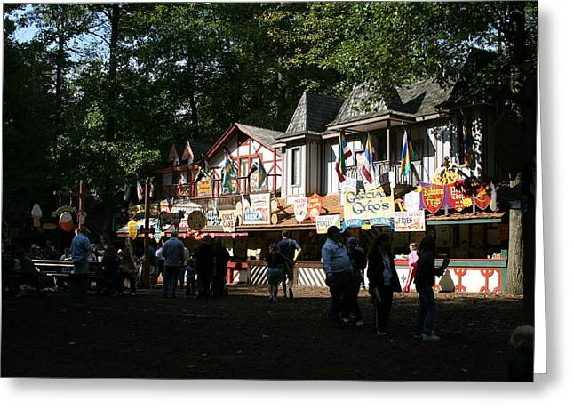 Maryland Renaissance Festival - Merchants - 121253 Greeting Card by DC Photographer