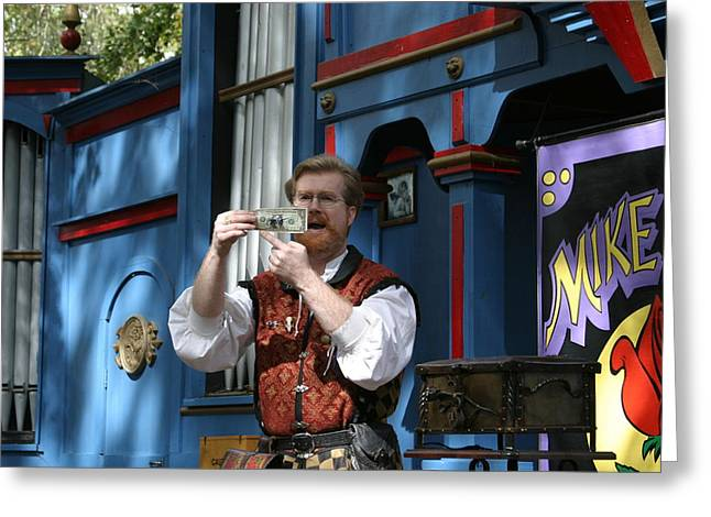 Mike Greeting Cards - Maryland Renaissance Festival - Mike Rose - 12125 Greeting Card by DC Photographer