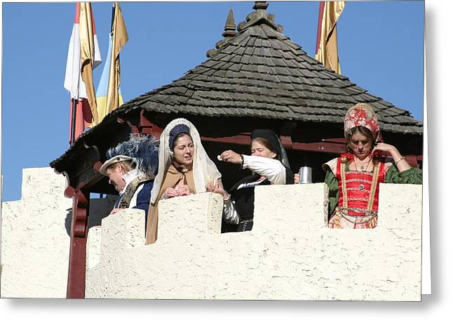 Opening Greeting Cards - Maryland Renaissance Festival - Open Ceremony - 12124 Greeting Card by DC Photographer