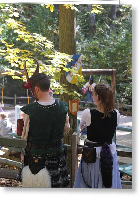 Aged Photographs Greeting Cards - Maryland Renaissance Festival - People - 121241 Greeting Card by DC Photographer
