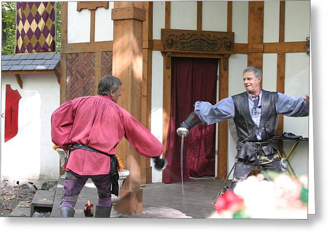 Artist Greeting Cards - Maryland Renaissance Festival - Puke N Snot - 121221 Greeting Card by DC Photographer