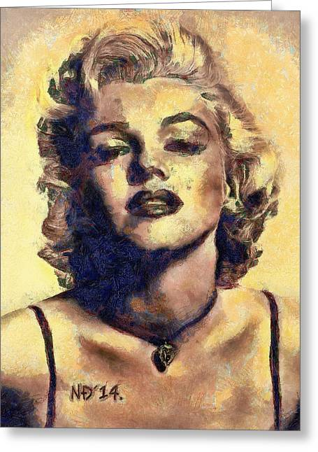 Lucent Dreaming Greeting Cards - Marylin Monroe I Greeting Card by Nikola Durdevic