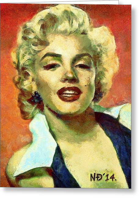 Lucent Dreaming Greeting Cards - Marylin Monroe II Greeting Card by Nikola Durdevic