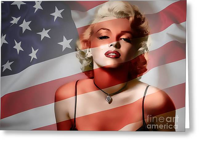 Color Image Greeting Cards - Marylin Monroe Painting Greeting Card by Marvin Blaine