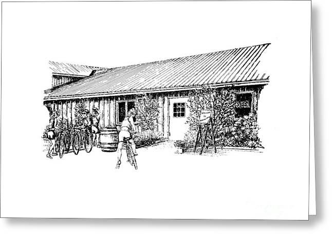 Marynissen Winery Bike Tours Greeting Card by Steve Knapp