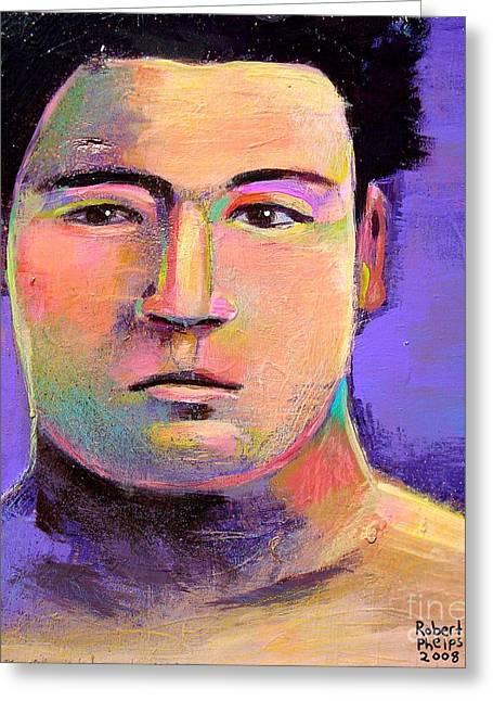 Robert Phelps Robert Phelps Art Greeting Cards - Masahiko Kimura Greeting Card by Robert Phelps