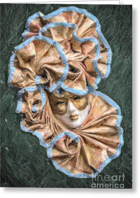 Venezia Greeting Cards - Maschera di carnevale Greeting Card by Liz Leyden