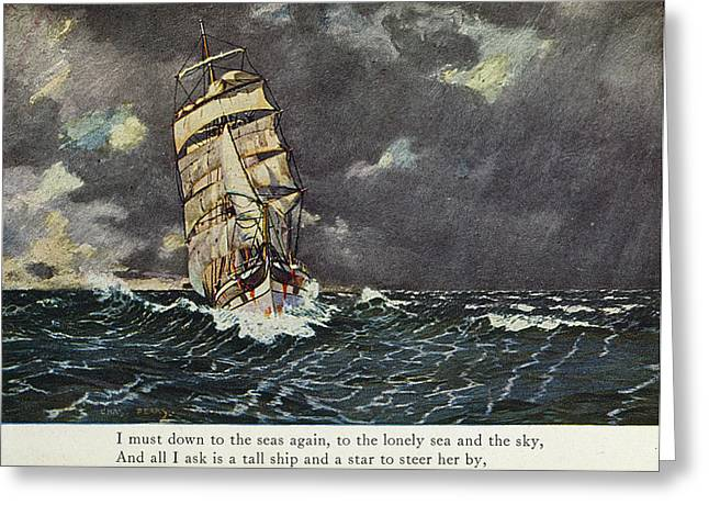 Masefield Sea Fever, 1902 Greeting Card by Granger